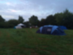 East Sussex campsite bell tent