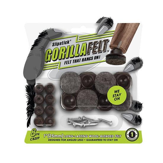 Set of 8, Swivel Felt Feet, Brown/Grey