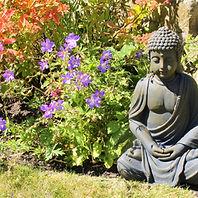 Brook Cottage - Garden 6 - Buddha.JPG
