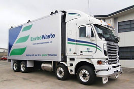 Waste removal truck