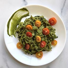 Zucchini Noodles with Basil-Mint Pesto