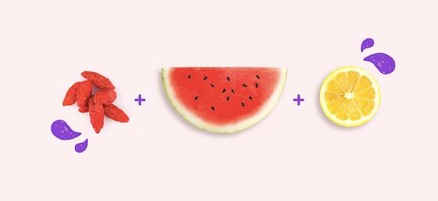 وجبة الإفطار المثالية: التوت الغوجي والبطيخ والليمون