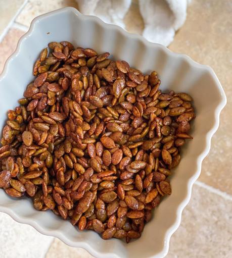 Maple-Cinnamon Pecans & Pumpkin Seeds