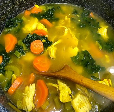 Ginger Turmeric Chicken Vegetable Soup