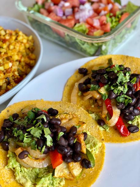Black Bean & Veggie Tacos