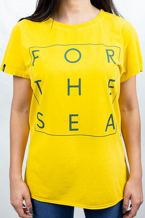 Camiseta Feminina FOR THE SEA Amarela