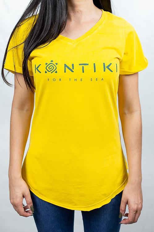 Camiseta Feminina LOGO HORIZONTAL Amarela