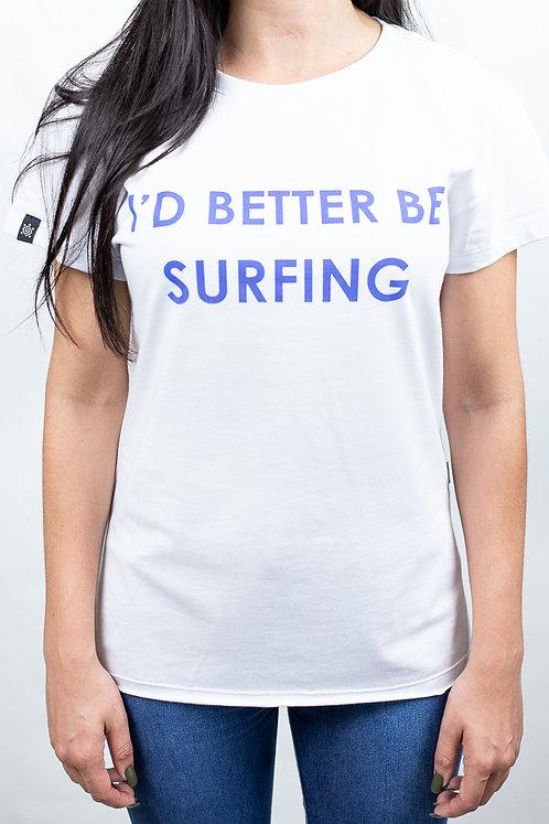 Camiseta Feminina BETTER SURFING Branca