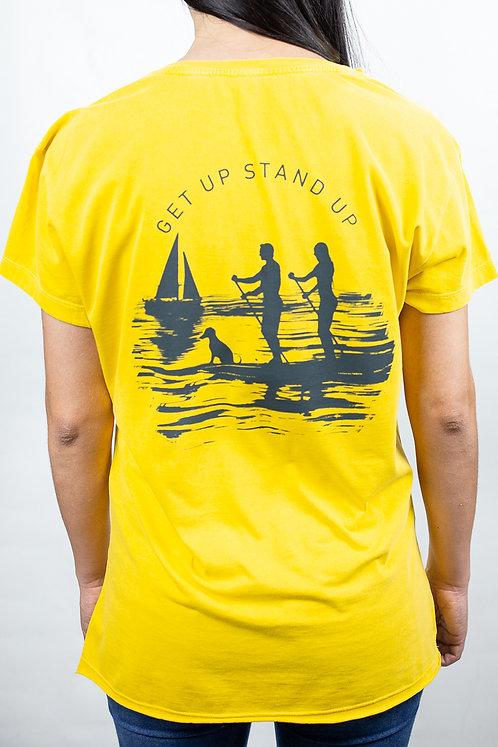 Camiseta Feminina CASAL SUP Amarela