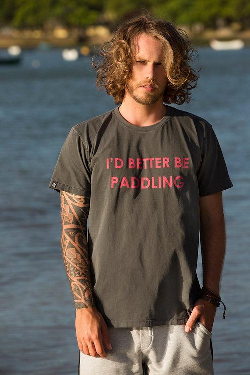 Camiseta Masculina BETTER PADDLING Chumbo