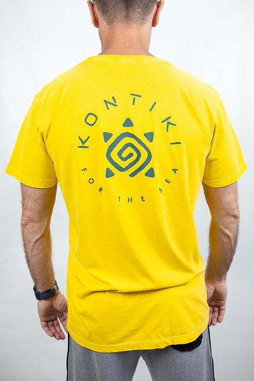 Camiseta Masculina LOGO CIRCULAR Amarela