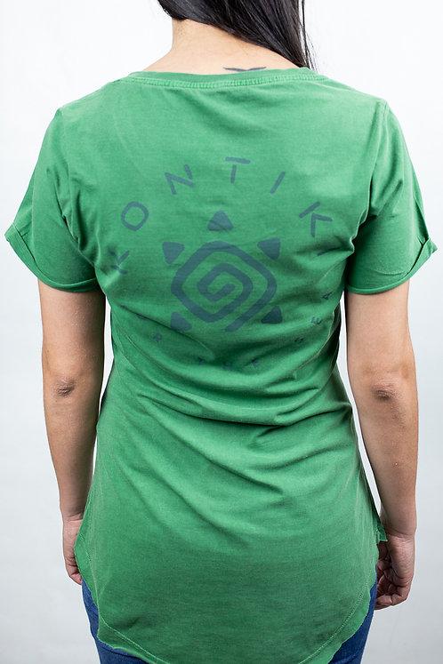 Camiseta Feminina LOGO CIRCULAR verde