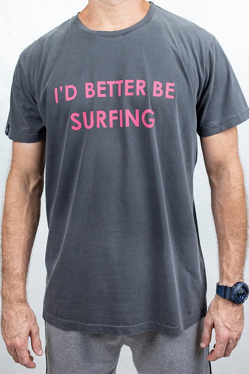 Camiseta Masculina BETTER SURFING Chumbo