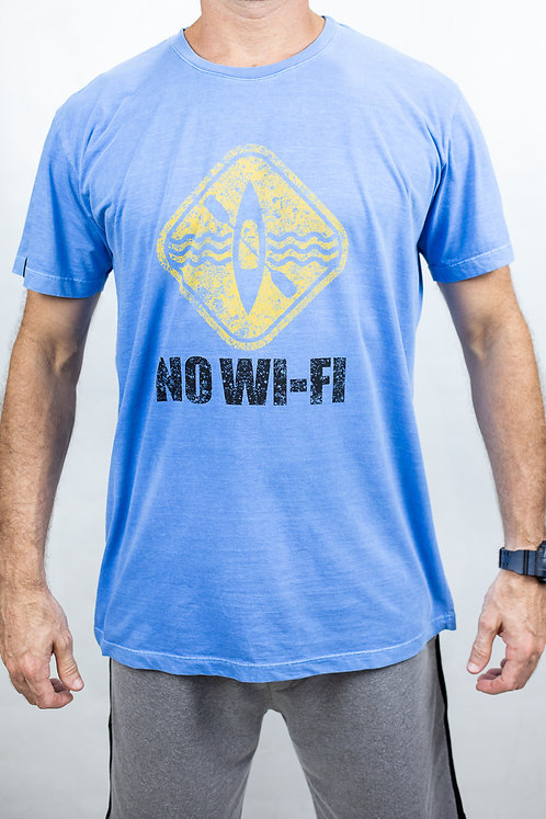 Camiseta Masculina NO-WIFI Azul