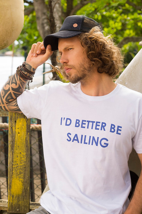Camiseta Masculina BETTER SAILING Branca