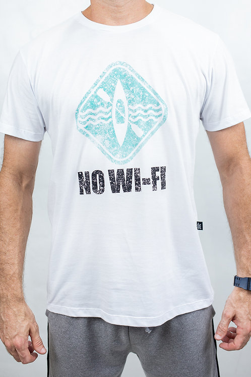 Camiseta Masculina NO-WIFI Branca