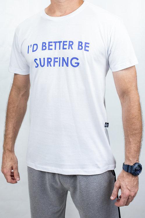 Camiseta Masculina BETTER SURFING Branca