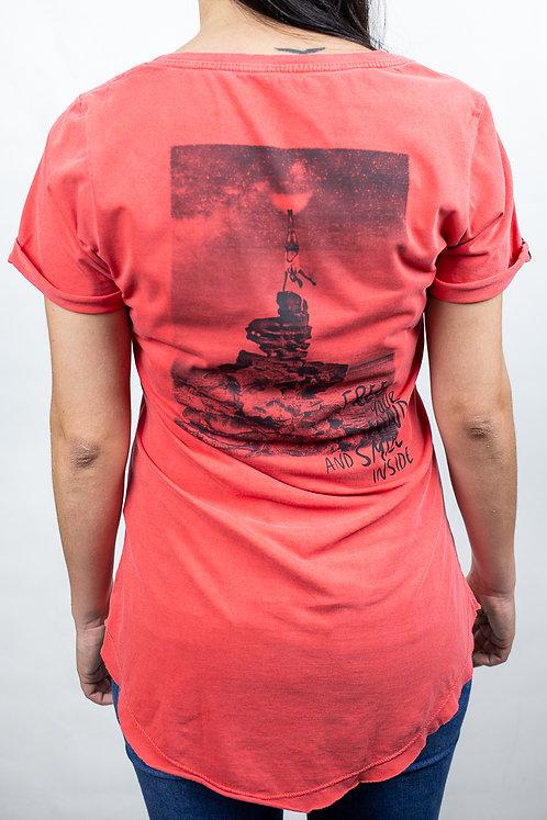 Camiseta Feminina FREE YOUR MIND Vermelha
