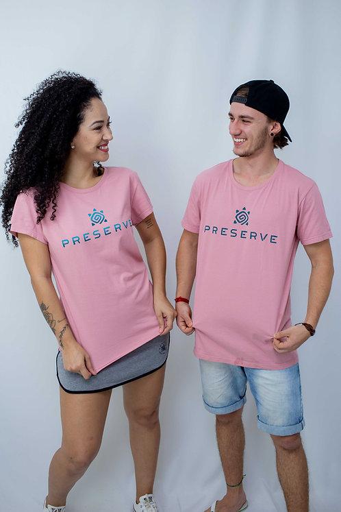 Camiseta Masculina PRESERVE Rosa Natural