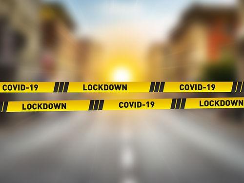 Covid-19 Lockdown concept. CORONAVIRUS L