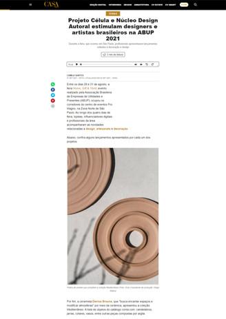 Matéria da Casa Vogue sobre a ABUP Home, Gift & Têxtil