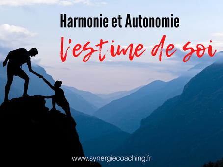 L'harmonie et l'autonomie de l'estime de soi