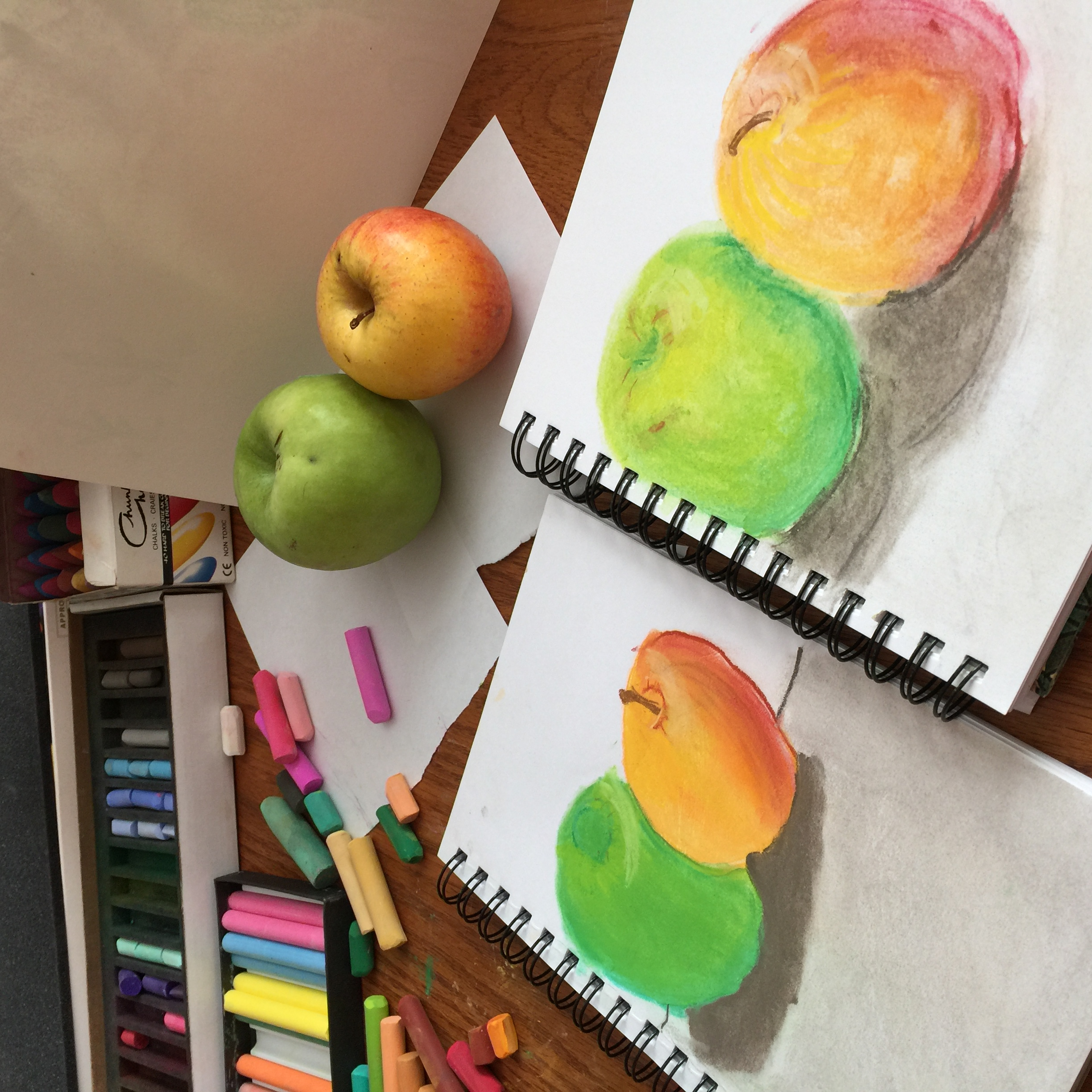 shading apples
