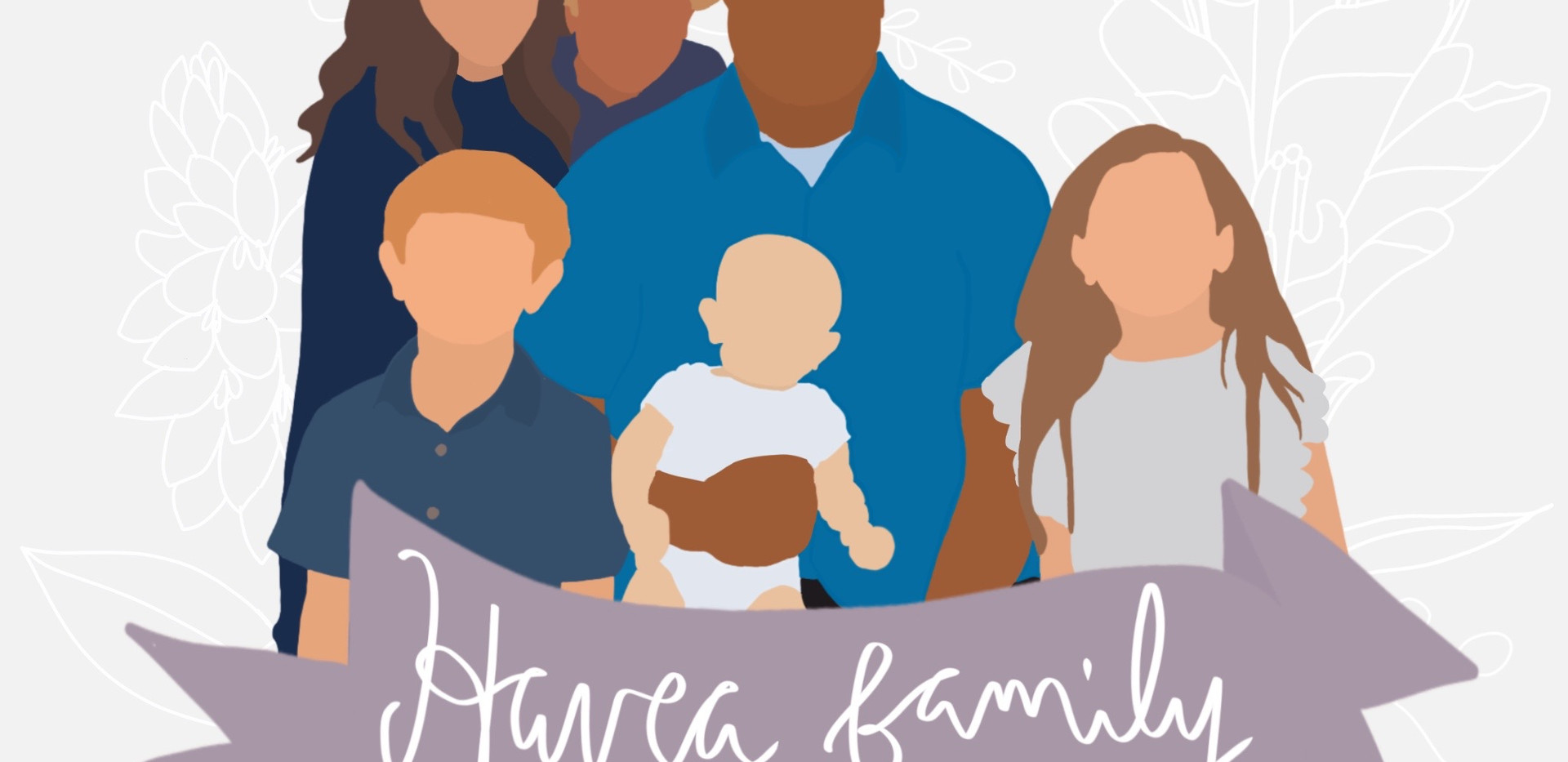 $70 Custom Family/Group Portrait with Banner