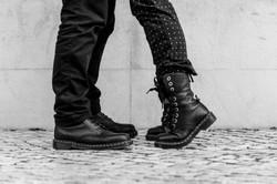 The kiss...au revoir Lisbonne