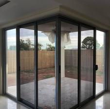 Corner Sliding Security Doors