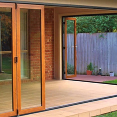 Woodgrain Bi-Fold Security Screens
