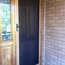 Woodgrain Security Screen Door