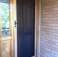 Woodgrain Security Screen Door