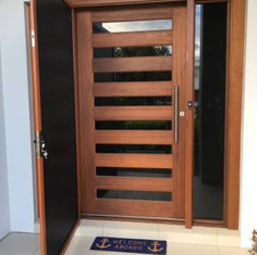 Woodgrain Screenguard Security Door
