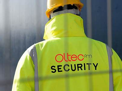 guard on a building site in Bolton