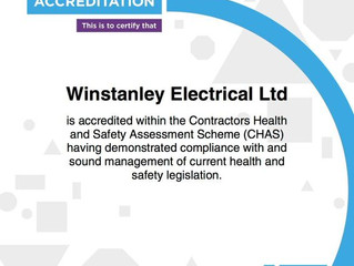 Winstanley Electrical is Accredited by CHAS