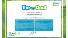 "Winstanley Electrical Supports Wigan Councils Initiative ""The Deal"""