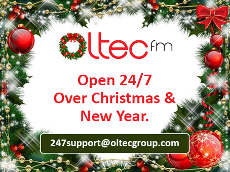 Oltec fm Is Open 24/7 Over Christmas & New Year