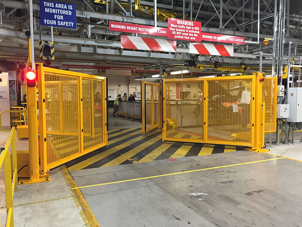 yellow safety barriers in york nationwide fm