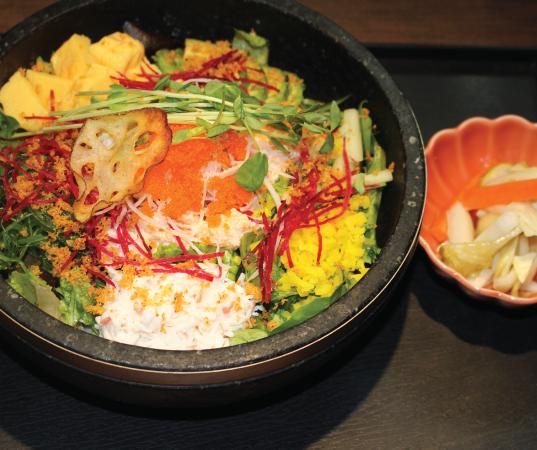 Hot stone bowl Japanese style