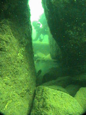 Clark's Point, McKinney Park, Clark point, wolfeboro bay, rocks, diving, divers, dive, scuba, scuba diving, underwater