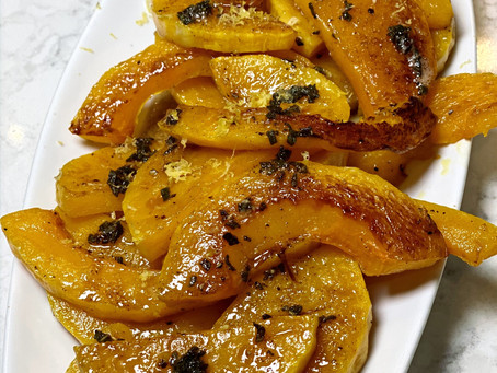 Ina's Roasted Butternut Squash with Brown Butter & Sage