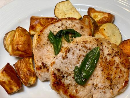 Sage Roasted Pork Chops