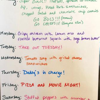 Weekly Menu 2.7-2.13