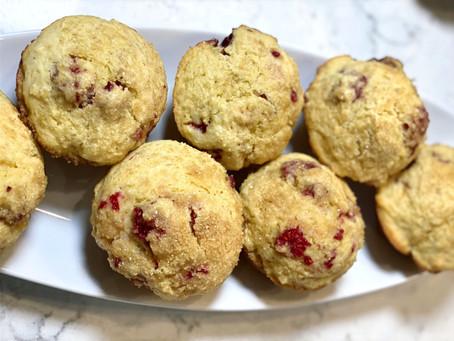 Ina's Fresh Raspberry Mini Corn Muffins