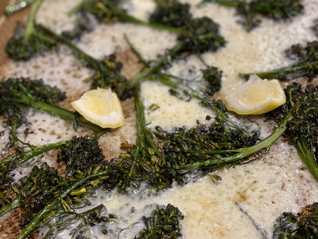 Ina's Roasted Broccolini & Cheddar