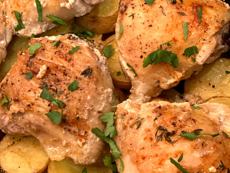 Ina's Skillet-Roasted Chicken and Potatoes