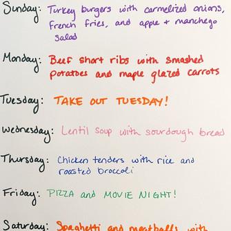 Weekly Menu 12.13-12.19