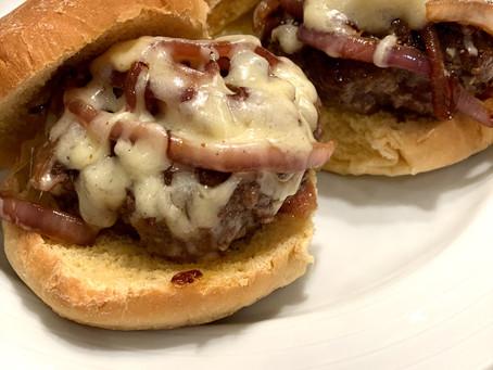 Ina's Smashed Hamburgers with Caramelized Onions