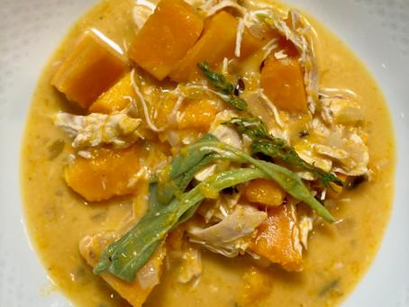 Chicken, Butternut Squash, and Wild Rice Stew